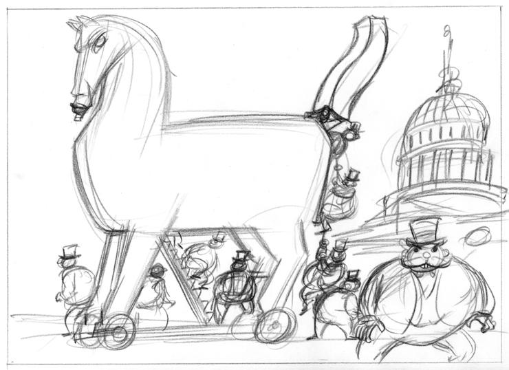 Trojan War Horse Coloring Page